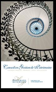 couverture de la plaquette de présentation de la société Haussmann Patrimoine - CGP : Conseil en Gestion de Patrimoine